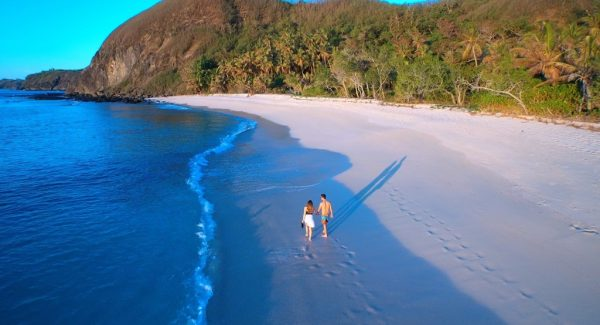 Yasawa couple sunset walk